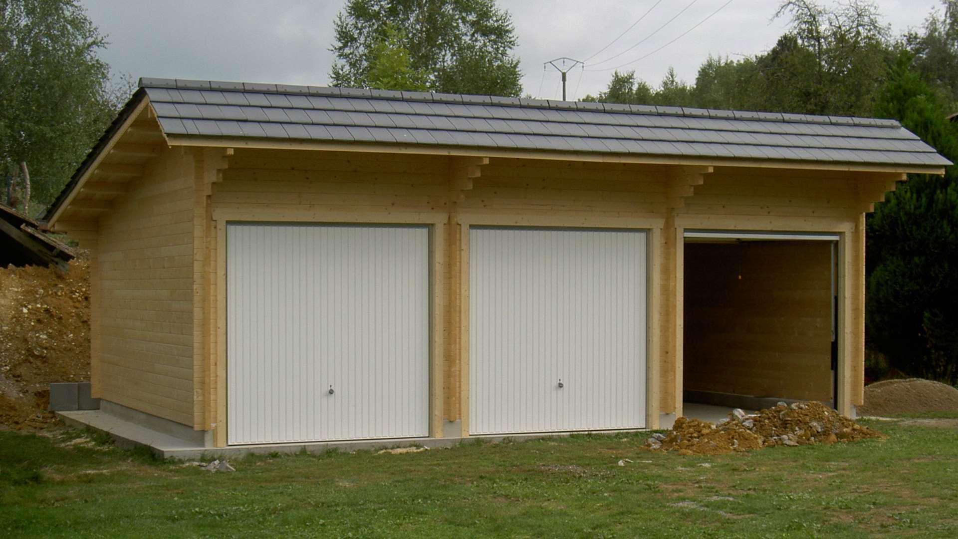 garage carport bois naturabois. Black Bedroom Furniture Sets. Home Design Ideas