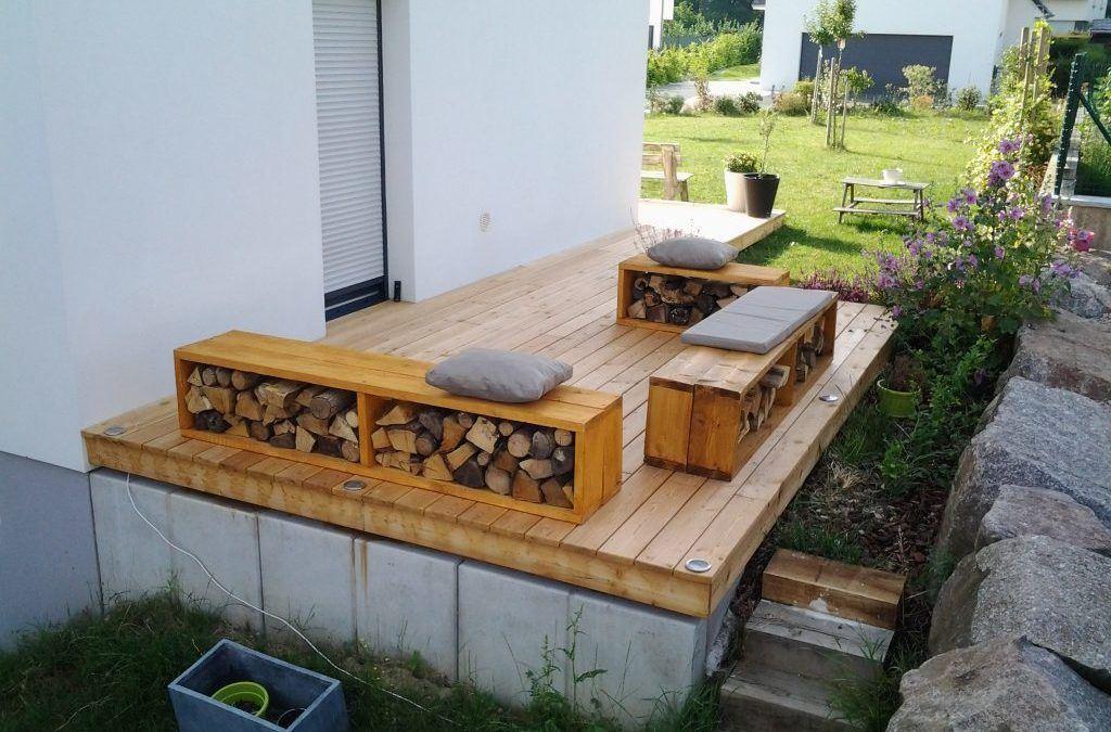 Terrasse bois à Cernay
